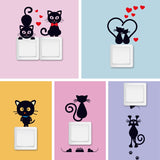 DIY Creative Black Cat ♥ Switch stickers - KittyCatPurrfect