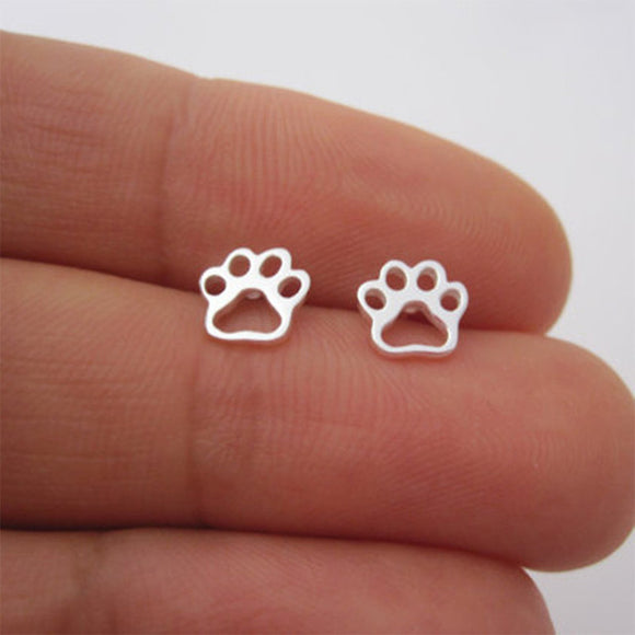 Stainless Steel Paw Studs - KittyCatPurrfect
