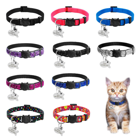 Personalized Safety Quick Release Collars - KittyCatPurrfect