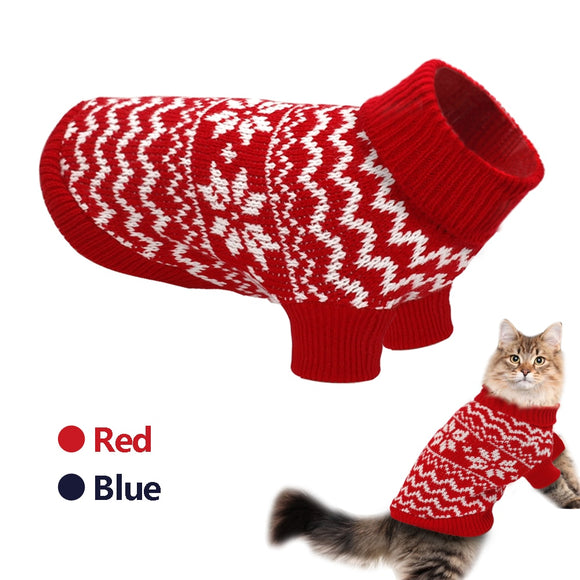 Knitted Winter Sweater - KittyCatPurrfect