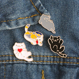 3-6 pc Kitty Cartoon Set Brooches - KittyCatPurrfect