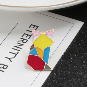 Origami Cat Brooch - KittyCatPurrfect