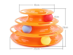 Three Levels Tower Disc with Balls - KittyCatPurrfect