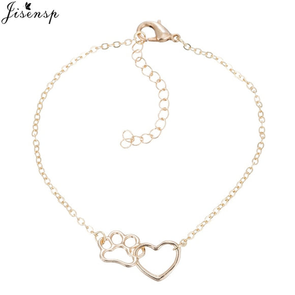 Heart & Paw Footprint Bracelet - KittyCatPurrfect