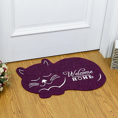 Cat Shaped Welcome Home Mat - KittyCatPurrfect