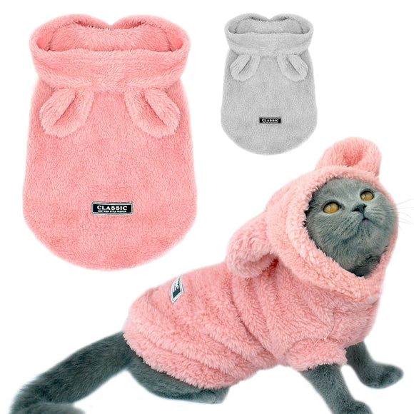 Warm Cozy Pajamas with Ears - KittyCatPurrfect
