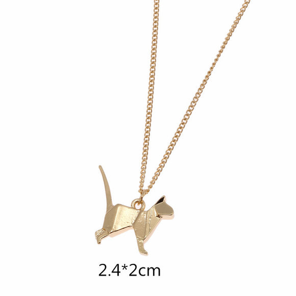 Kitty Origami Necklace - KittyCatPurrfect
