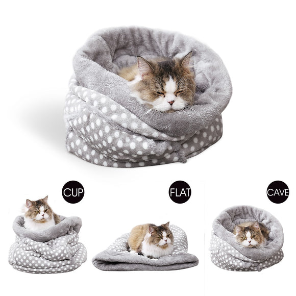 Sleeping Bag Kennel Cave Multi-functional Bed - KittyCatPurrfect