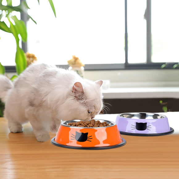 Stainless Steel Anti-Skid Bowl - KittyCatPurrfect