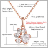 Cute Paw Gem Pendant Necklace - KittyCatPurrfect