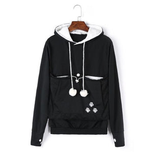 Cat Hoodie Sweatshirt with Kangaroo Pocket - KittyCatPurrfect
