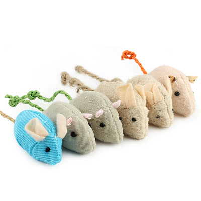 6pc Plush Mouses with Catnip - KittyCatPurrfect