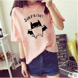 Cute Cartoon Cat with Cape Shirt - KittyCatPurrfect