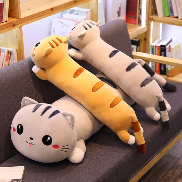 Cartoon Cat Pillow - KittyCatPurrfect