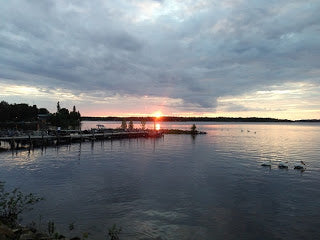 Oak Island Sunset - Lake of the Woods