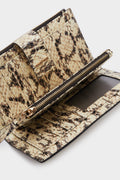 Leather wallet with Snakeskin print