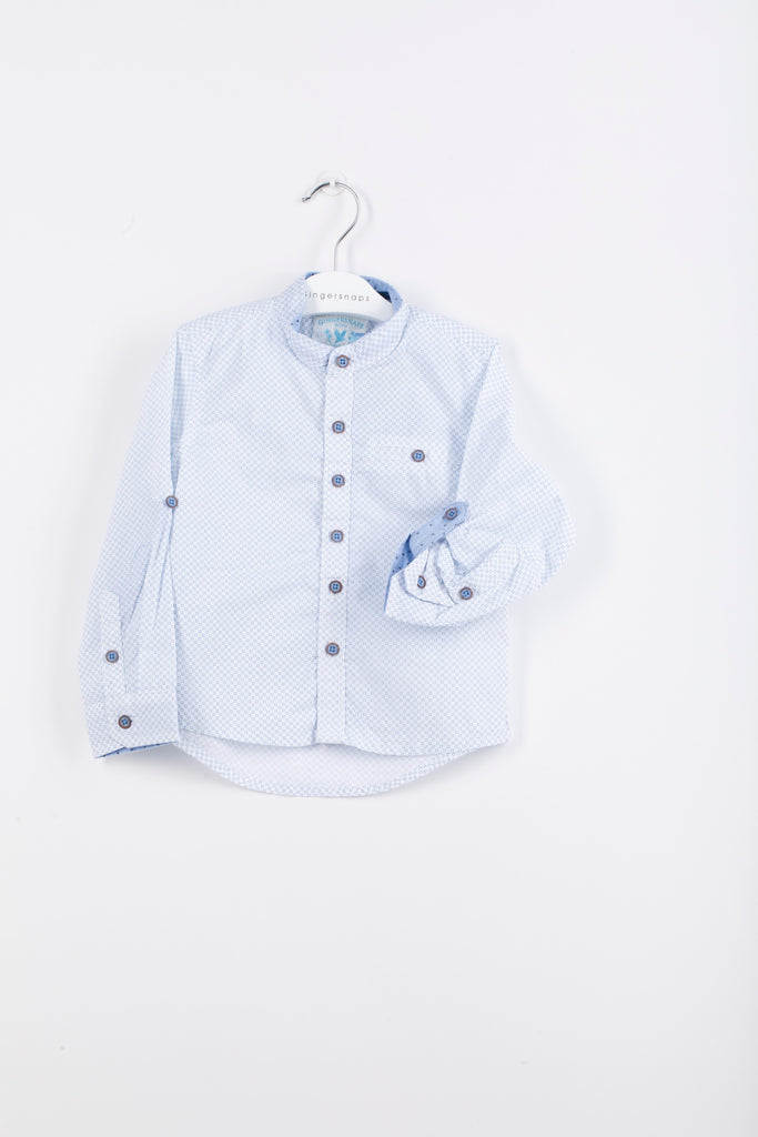 Boys Woven Button-Down Polo