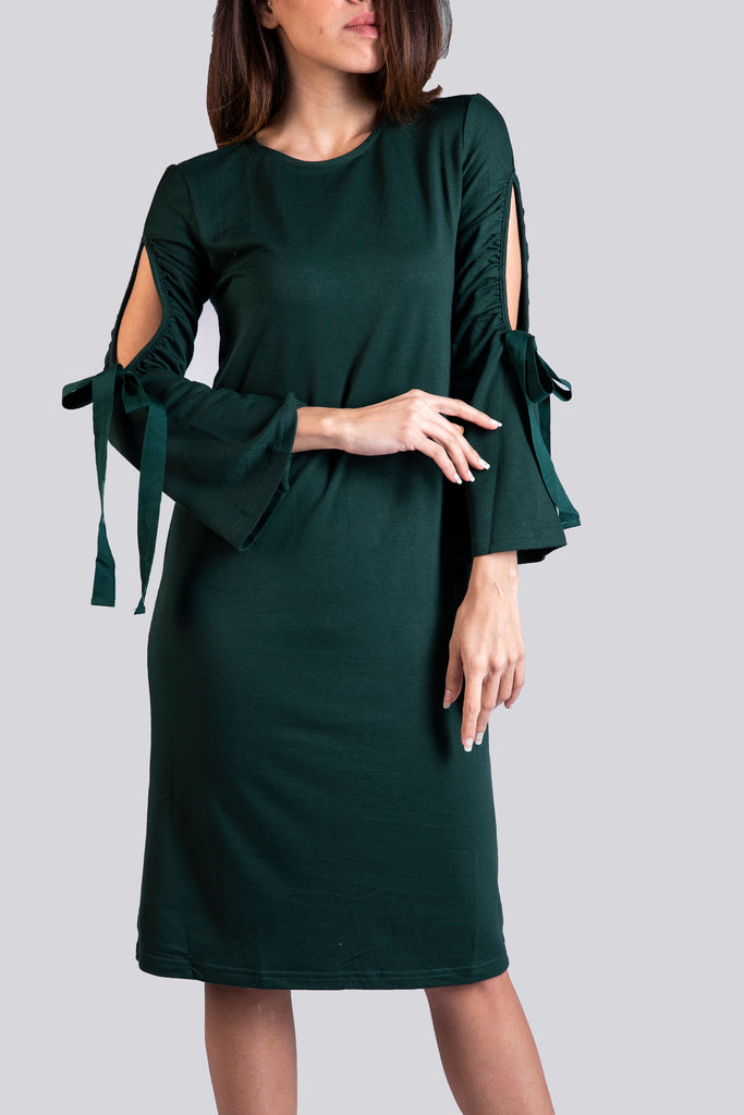 Long Sleeves Midi Dress