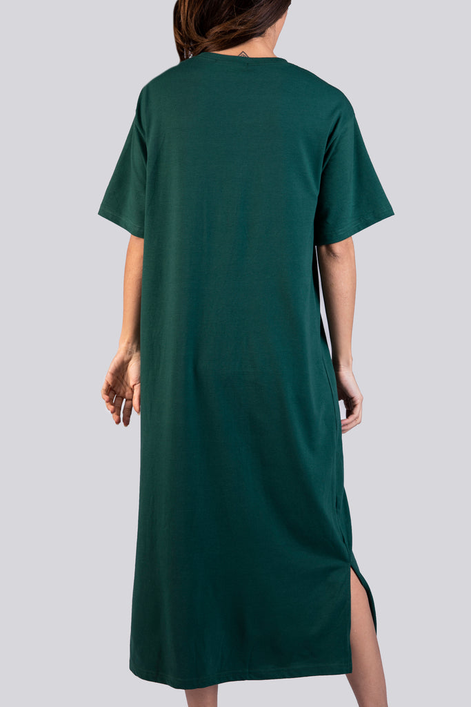 Short Sleeves Midi Dress