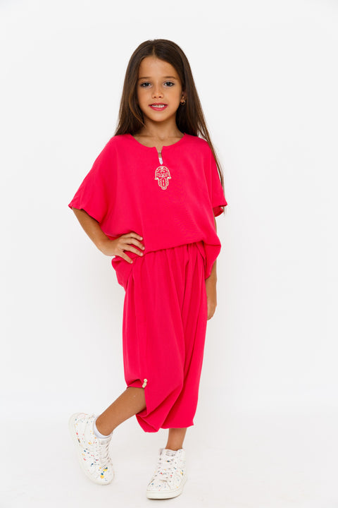 Girls 1/2 Sleeves Jabador