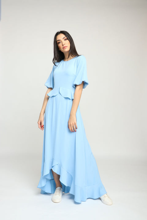 Short Sleeves Maxi Dress