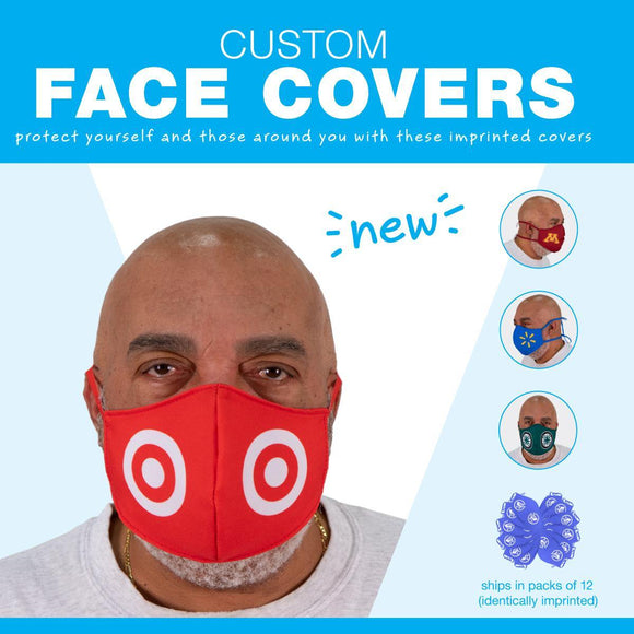 Face Covers - Custom Printed Washable Level 1 Protection (must order in lots of 12) - UmbrellasAndBeyond