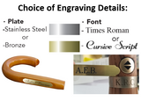 Personalized engraved handle plates and fonts