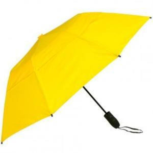 "Haas-Jordan 44"" Auto Open Urbanite Small Sturdy WindProof Umbrella - Yellow"