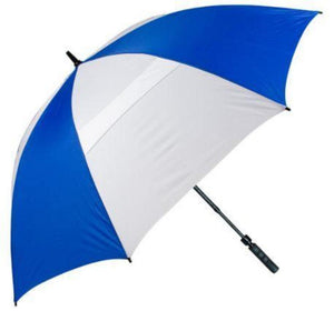 "Haas-Jordan - Hurricane 345TA 62"" Auto Open Telescoping Shaft Windproof Umbrella - Royal Blue and White"