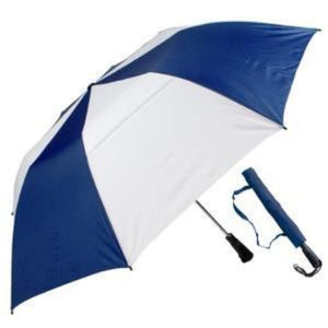 "Haas-Jordan - 58"" Professional 345 Auto Open WindProof Umbrella - Navy & White"