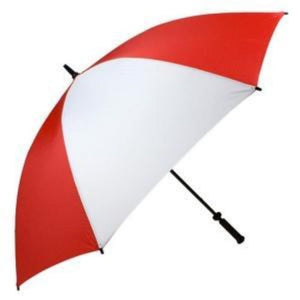 "Haas-Jordan - Pro-Line 62"" Fiberglass Single Canopy Umbrella - Red & White"