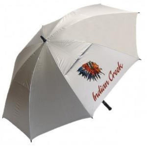 "Haas-Jordan - Sunflector 62"" Manual Open Windproof UV Protected Umbrella - Sunflector Silver"