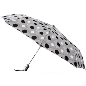 "Leighton - The Manhattan 43"" City Commuter Auto Open Close Umbrella - Geometric Circles"