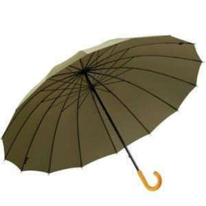 "Leighton - 60"" Doorman Large Umbrella (16 Ribs) - Military Taupe"