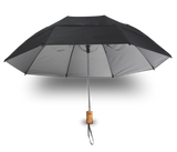 "GustBuster - 43"" Metro Auto Open WindProof Travel Umbrella  **OPTION - Engrave Handle (Red Only)!**"