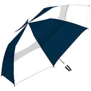 "ShedRain - 58"" Windjammer Vented Auto Open Umbrella With Rubber Grip - Royal Blue and White"