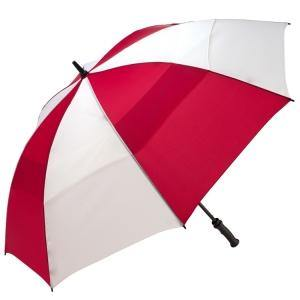 "ShedRain - Windjammer 62"" Manual Open Golf WindProof Umbrella - Red and White"