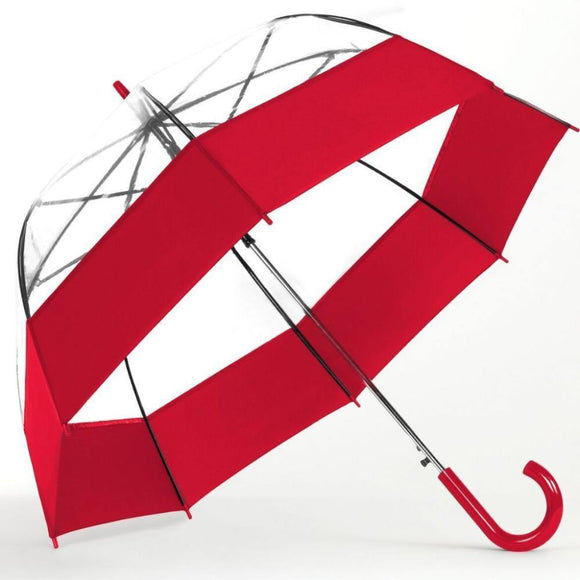 Shedrain - Auto Open Bubble Umbrella with Fabric Border - Red
