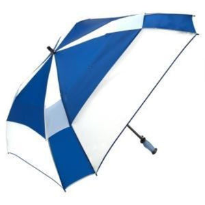 "ShedRain - Gellas 62"" Gel-Filled Handle Auto Open Vented Square Golf Umbrella - Royal and White"