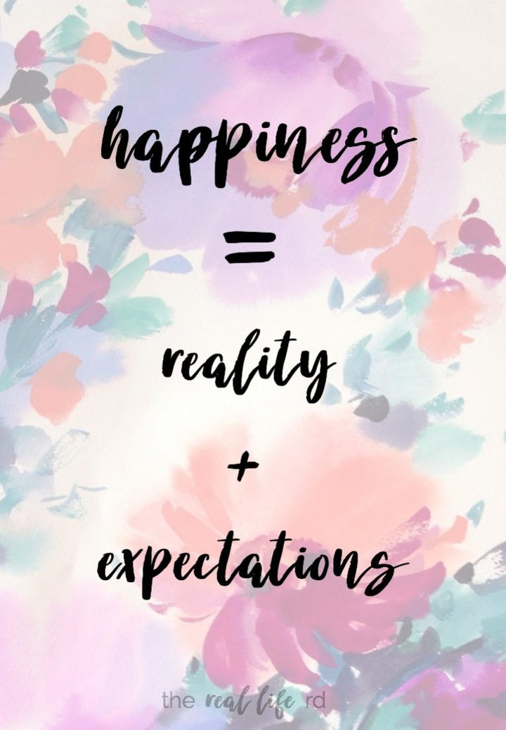 Happiness equals Reality minus Expectations