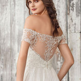 Lola 66056 Sample Wedding Dress by Lillian West in Size 12US (14UK) Colour Ivory/Ivory/Nude