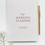Wedding Planner Book, Light Blush with Rose Gold Foiling for Brides To Be