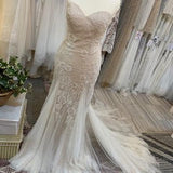 Lian Dress and Elara Topper Sample Wedding Dress by Willowby Watters In Size 4US (8UK) Colour Nude/Nude
