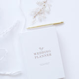 Wedding Planner Book, White with Gold Foiling for Brides To Be