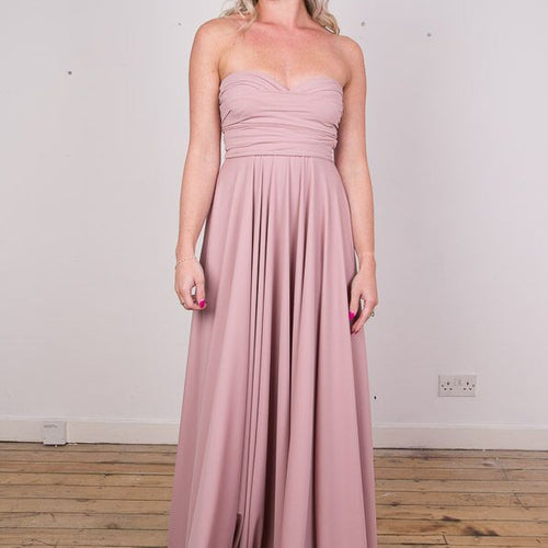 Multiway Dress for Bridesmaids, Prom & Partywear. Wrap dress, convertible dress. Available in 25 colours & variety of sizes. Shiny Fabric - Long