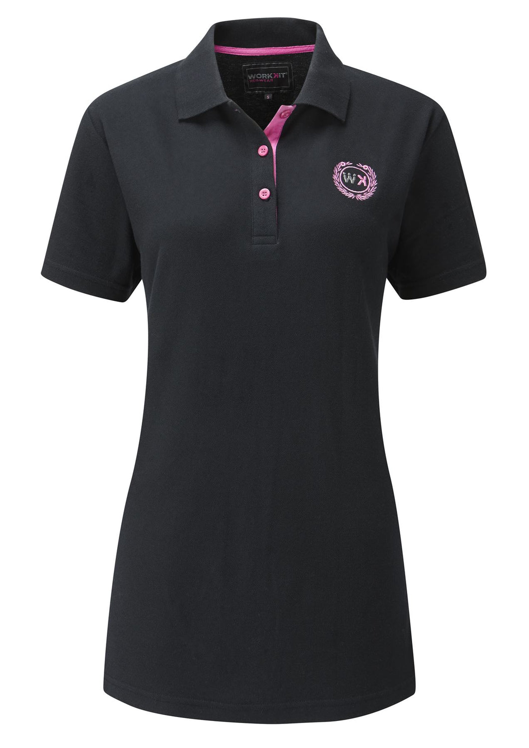 Womens Polo Shirt - Black - Work Kit Girl