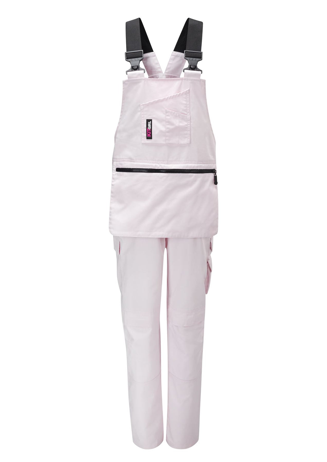 Womens Painters Bib and Brace - Pink - Work Kit Girl