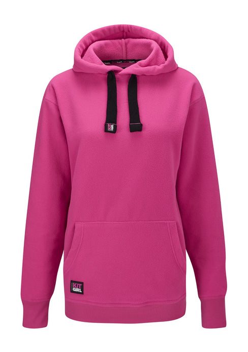 Womens Supersoft Fleece Hoodie - Pink - Work Kit Girl