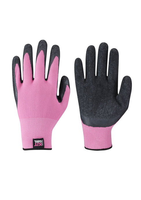 Womens Builders Latex Gloves 3 Pack - Pink - Work Kit Girl