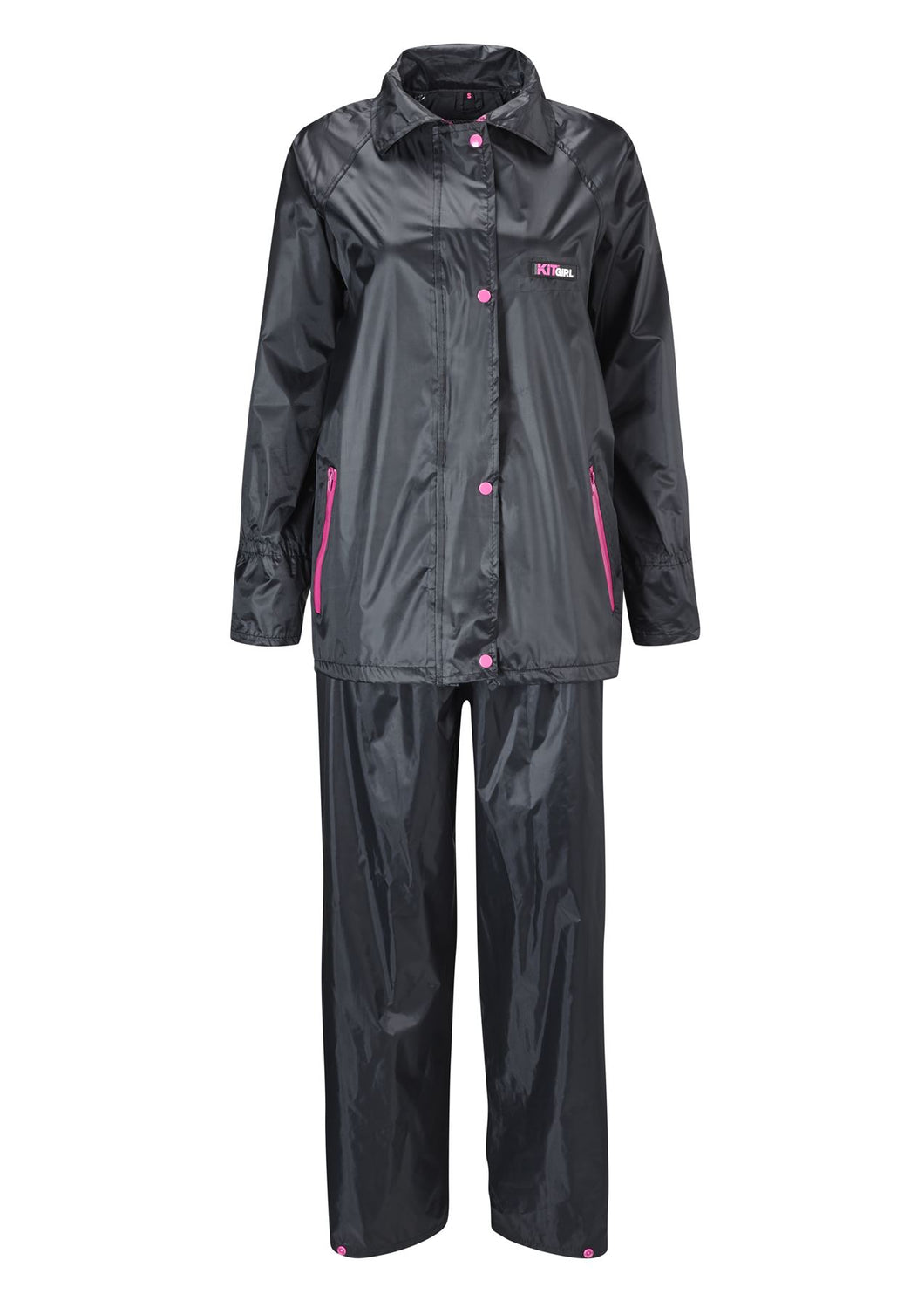 Womens Rain Suit - Black - Work Kit Girl